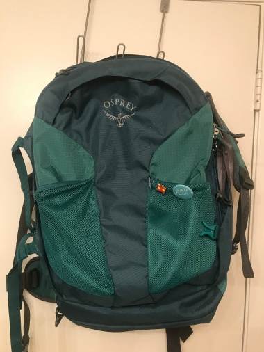 Front of bag.