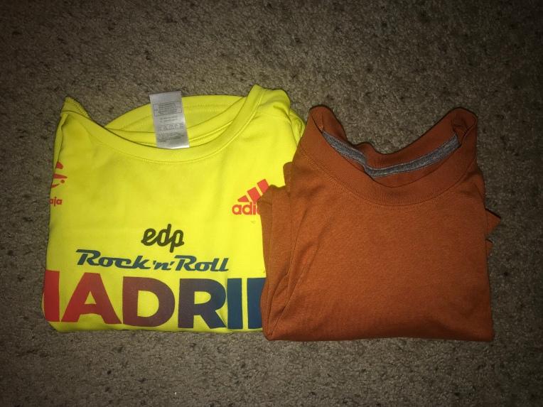 2 workout/sleep shirts